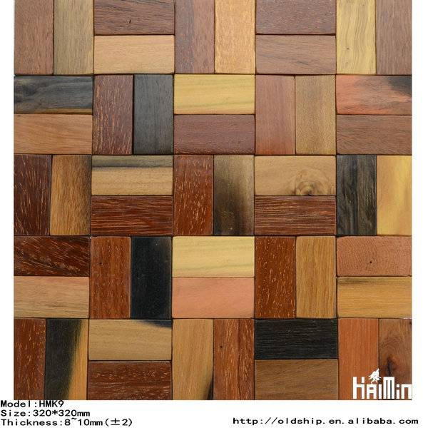 Classic Royllent wall Wood Mosaic tile, populor wooden mosaic ,mosaic tiles