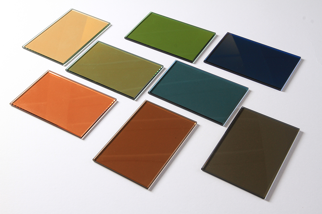 4mm-10mm Bronze, Grey, Blue, Green and Pink Reflective Glass