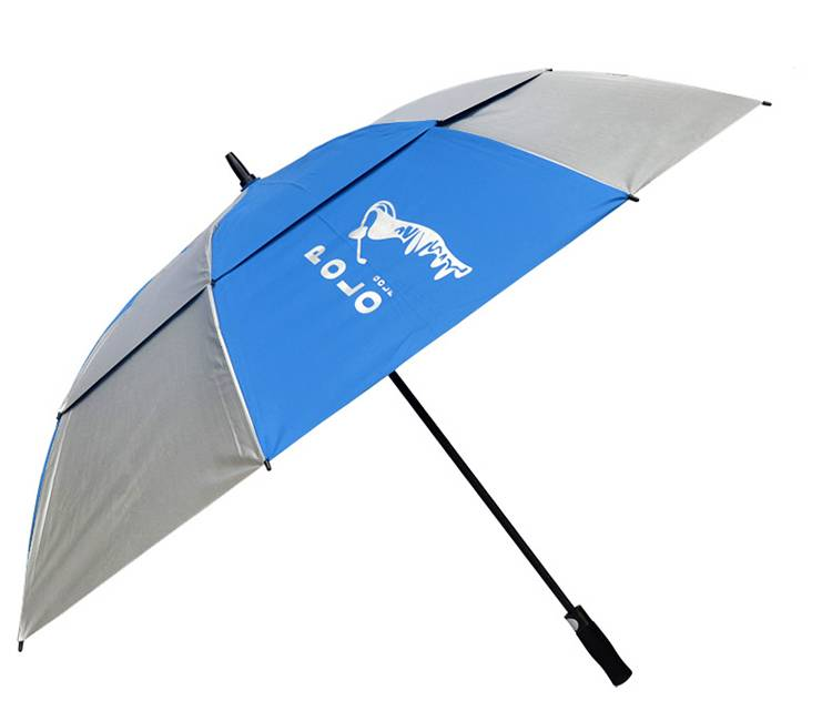 Promotional customized double canopy golf umbrella. oversize windproof golf umbrella