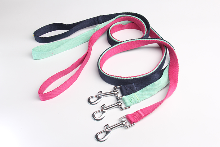 Polyester-cotton pet dog leash with regular handle