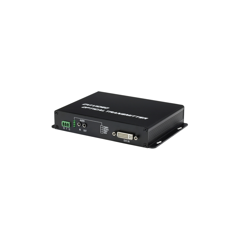 High definition DVI fiber video converter with KVM