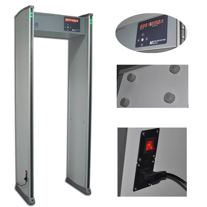 6 zones 255 sensitivity adjustable Walk through metal detector