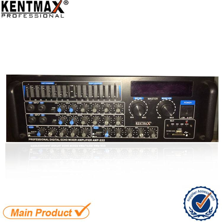 Factory Supply USB 2 Channels Karaoke Home Audio Power 150W amplifier