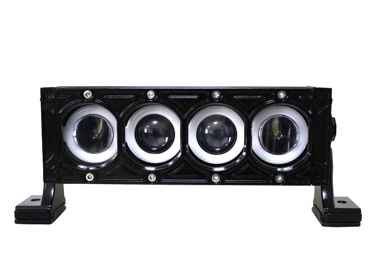 High/Low Beam With Angel Eyes,Single row 10W CREE