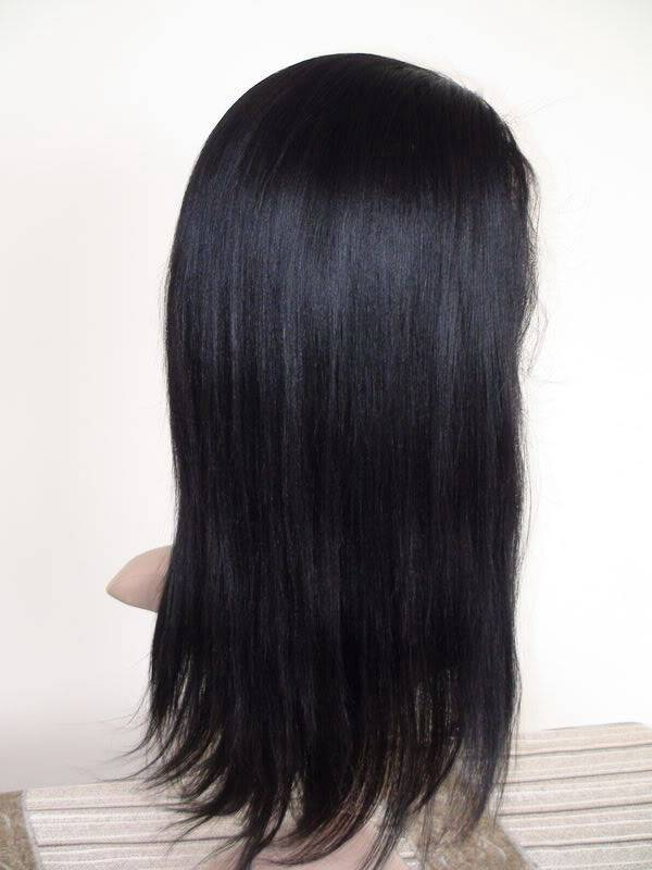 12'' yaki 1b#  Full lace wig 100% Indian remy human hair