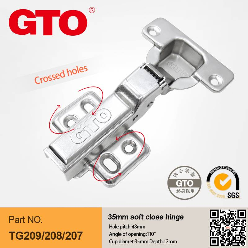 TG208 Soft close hinges for kitchen cabinets