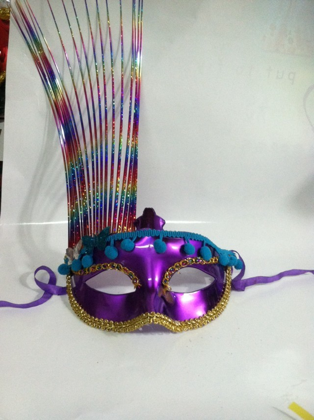 Multicolor Venetian Christmas Masquerade Glittering Half Face Party Mask