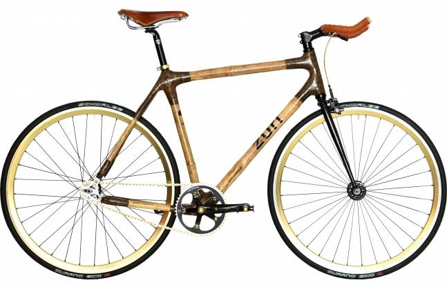 Zuri Urban Fixie Gold BAMBOO BIKE