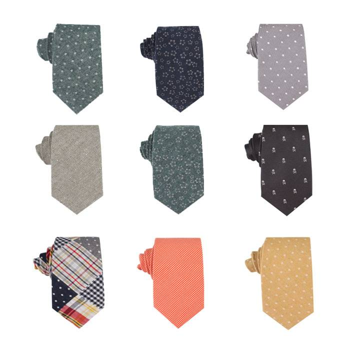 Fashion cotton casual necktie