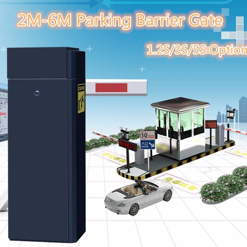 AC220V Airport Heavy Duty 6M Arm Parking Barrier Gate For Access Control