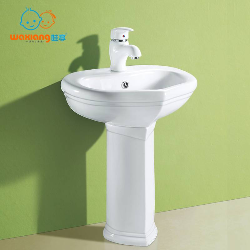 [Waxiang Ceramics WB-2200] Children Lavatory Pedestal Sink White China Wash Station,for children