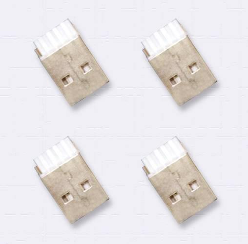Reversible USB 2.0 A M connectors