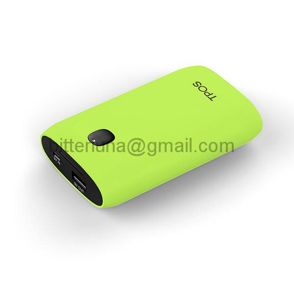 Rubberized 5600mah power bank Portable power charger