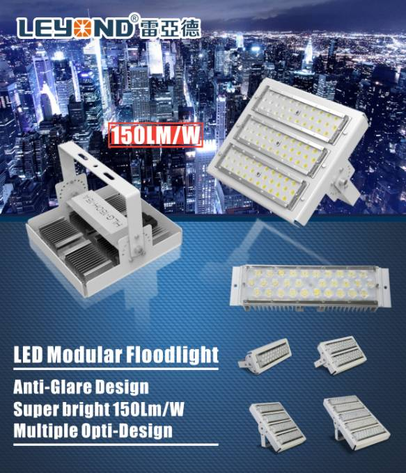 120lm/w Leyond 50w/100w/150w/200w LED Flood Light with MeanWell Driver Bridgelux Chip outdoor flood