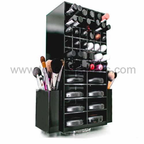 rotating acrylic cosmetics rack