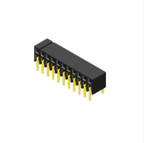 Board to board connector 2.0mm pitch dual row right angle dip type female header