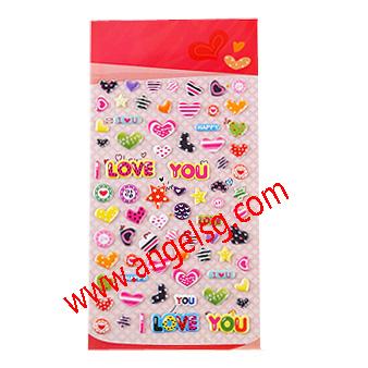 Love Heart Craft Puffy Foam Stickers