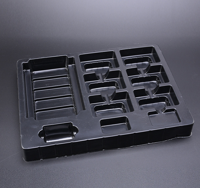 PS blister packaging trays, hardware tools with black color blister trays