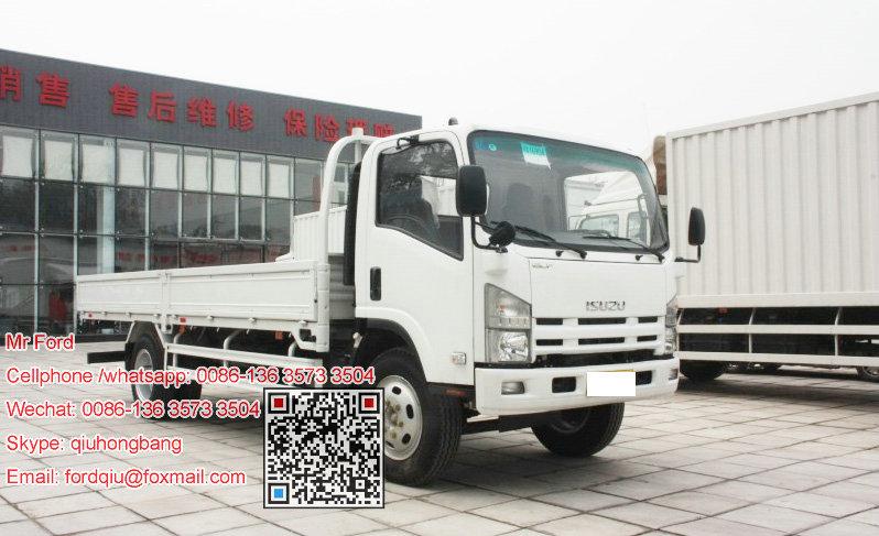 Isuzu elf lorry truck goods transport truck