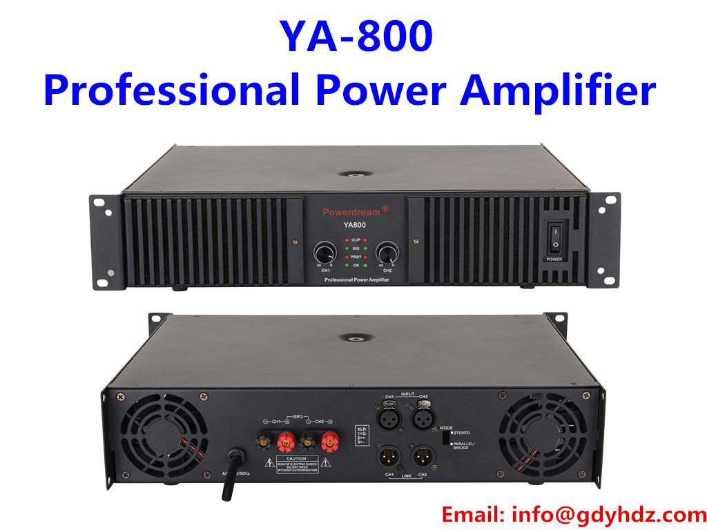 800W two channels class H professional audio amplifier karaoke room amplifier