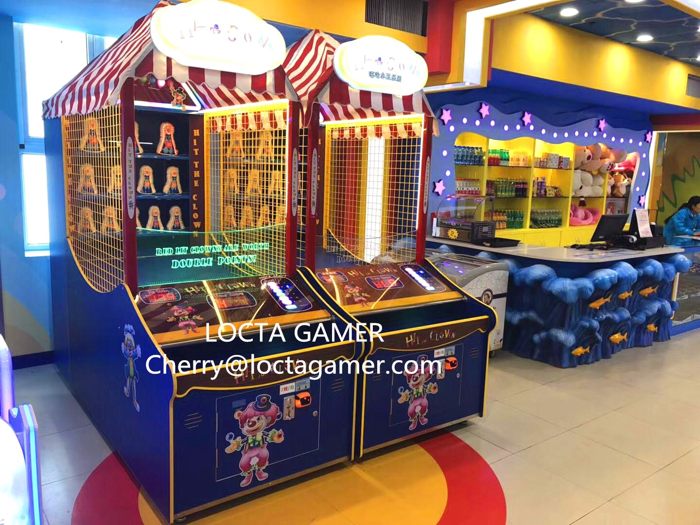 2018 Newest Indoor Coin Operated Ball Toss Arcade Carnival Game Down The Clown Redemption Game for s