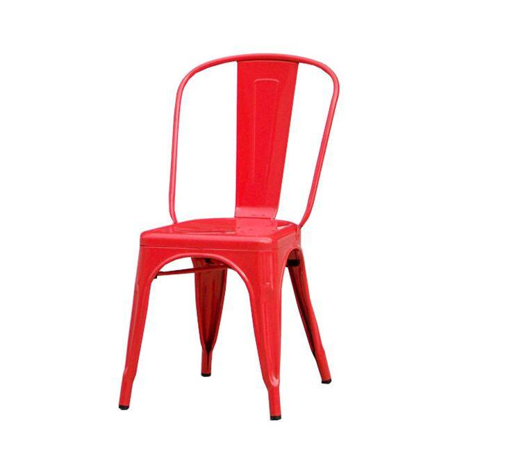 Various Colors Vintage Industrial Iron Metal Chair in Dining Chair