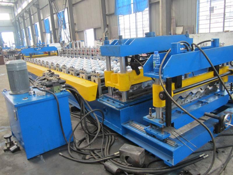 Glazed Steel Tile Roll Forming Machine: