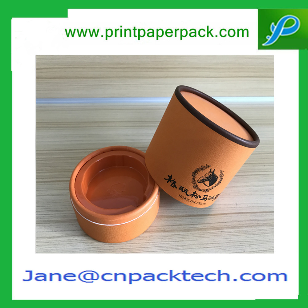 Customized Printing Tube Paper Boxes Rigid Set-up Box Lid and Base Round Box