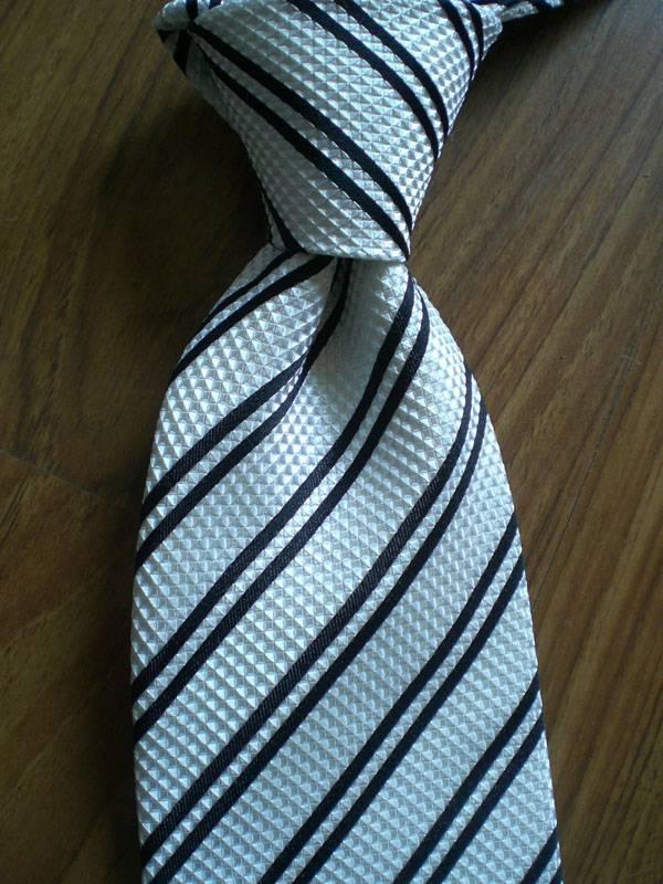 Blue Fashion Woven Tie