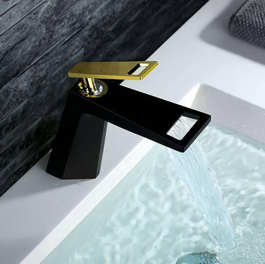 2016 new design high quality black bathroom upc faucet m2101