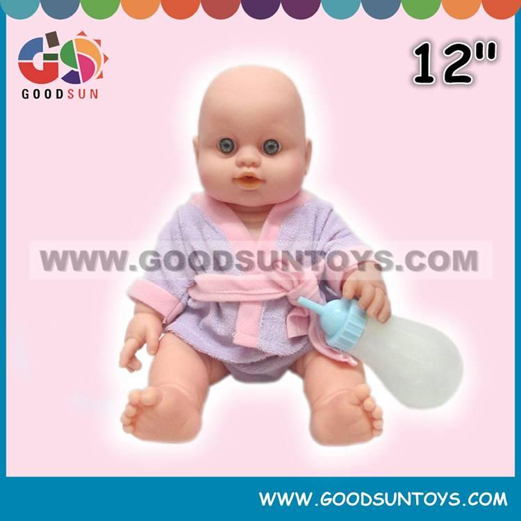 """12"""" Doll W/ Feeding Bottle 035937"""
