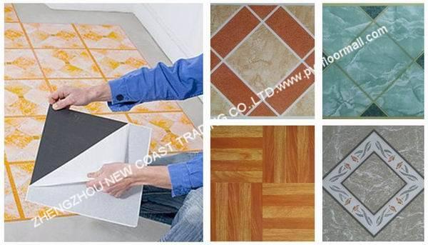 self-stick vinyl tiles
