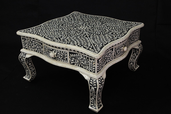 Bone Inlay 4 Drawer Coffee Table