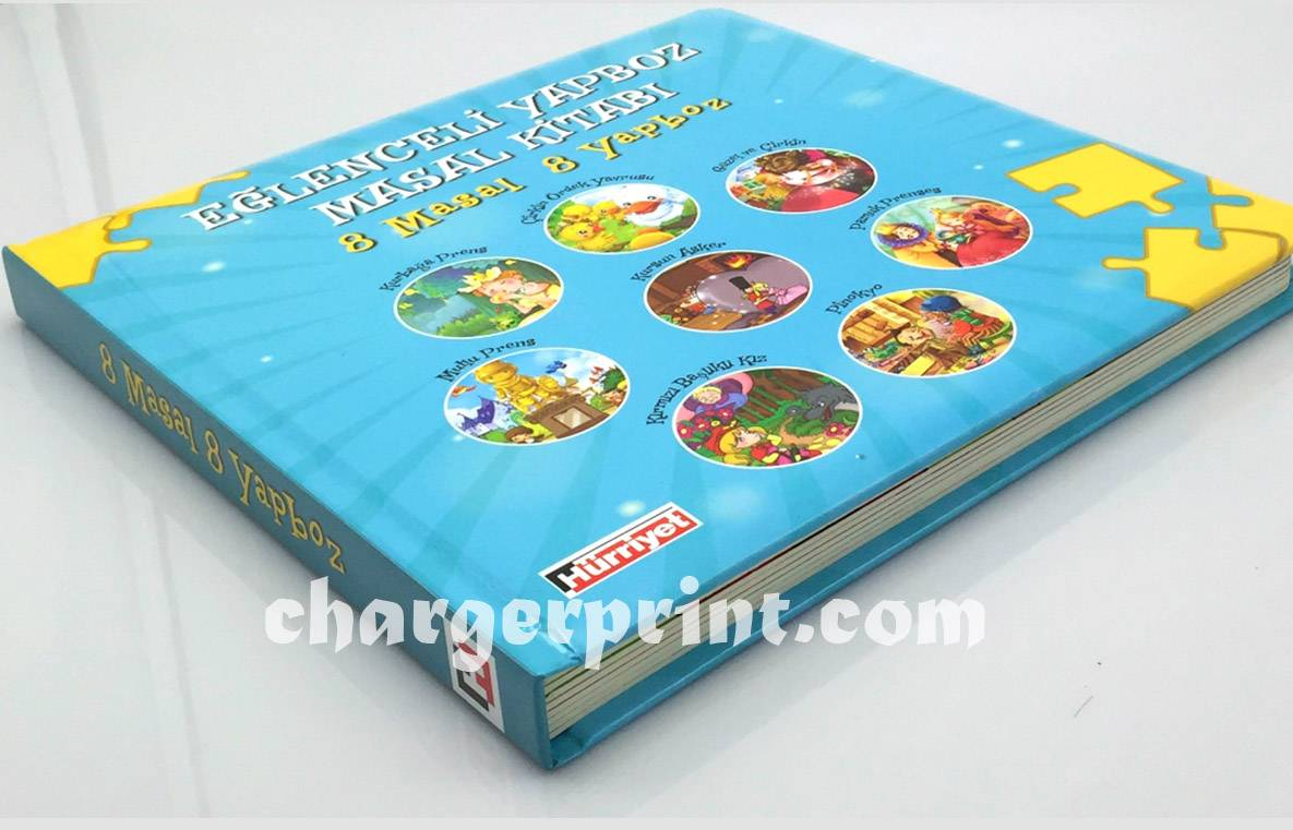 Professional children story puzzle book printing