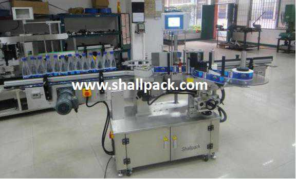 Rotary round containerself adhesive sticker labeling machine SL-4318R_Shallpack
