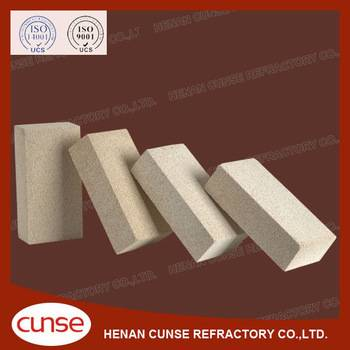 qualified manufacturer high alumina refractory brick for glass kiln