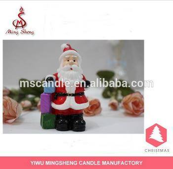 New year santa figurine Christmas candle
