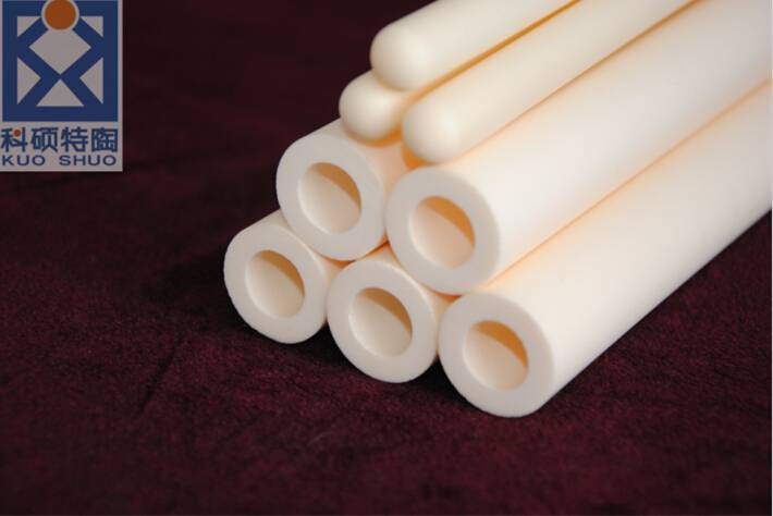 99%, 99.5% alumina thermocouple protection tube, sheath, alumina furnace tube