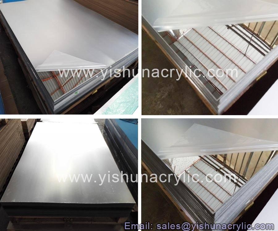 silver acrylic mirror sheet decotating wall mirror