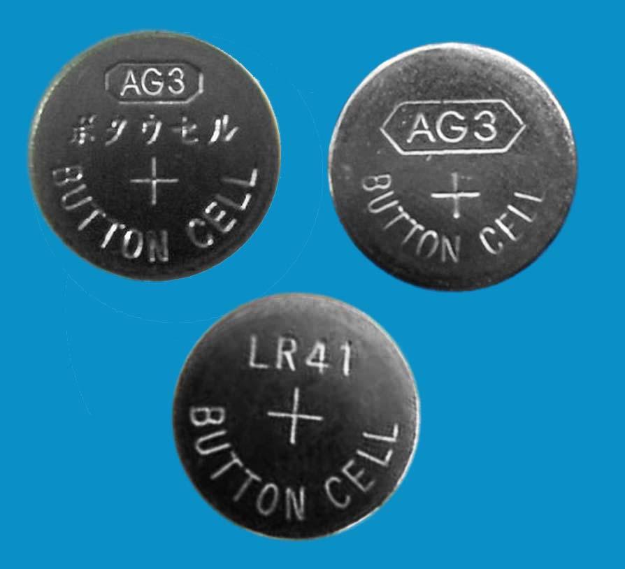 AG3 LR41 192 384 392 LR736 1.5V alkaline button cell battery