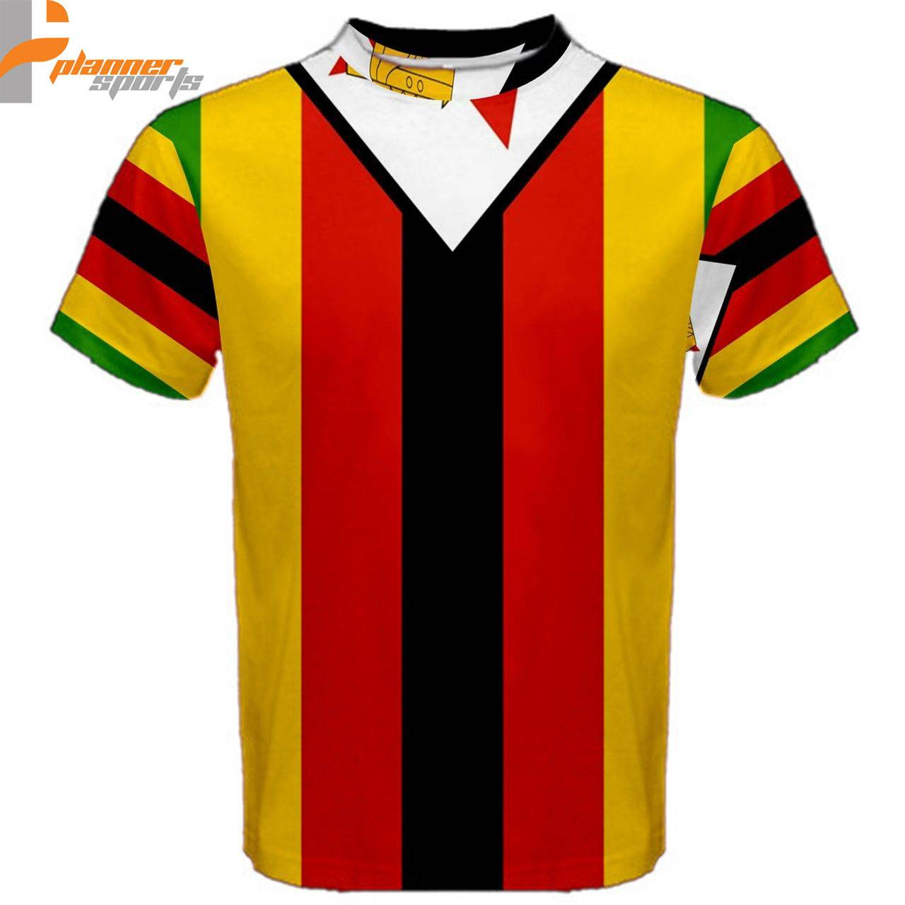 Zimbabwe Flag Sublimated Sublimation T-Shirt S,M,L,XL,2XL,3XL