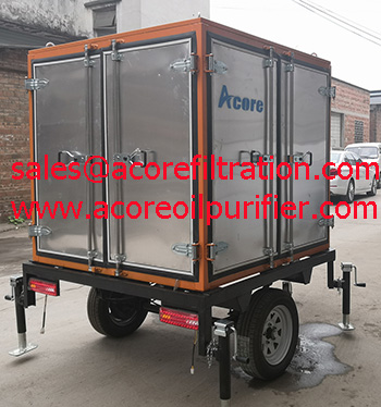 MTP Mobile Transformer Oil Treatment Machine Mounted On Trailer