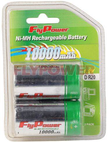 1.2V D10000mAh Ni-MH rechargeable battery