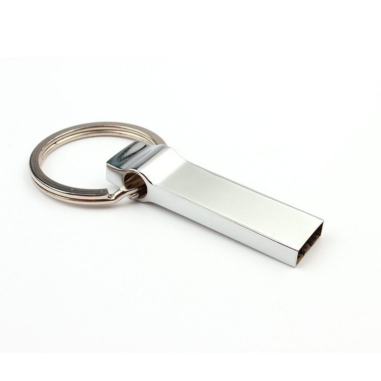 CaraUSB buckle usb flash disk mini keychain pendrive in silver 8GB