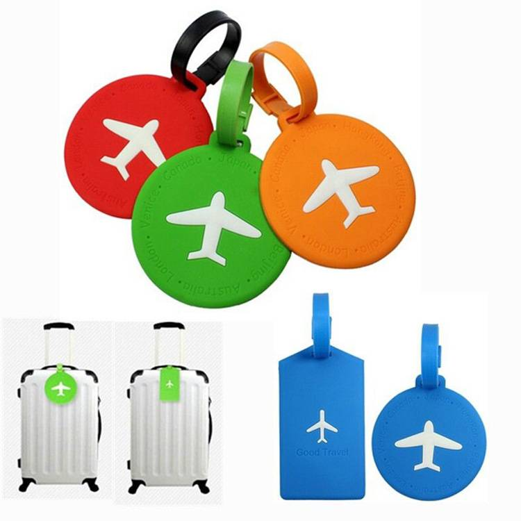 air travel pvc luggage tag for bags and suitcase