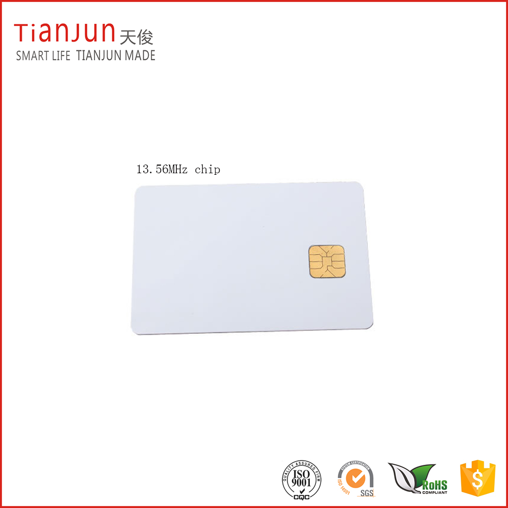 blank pvc cards with chip f08 13.56Mhz