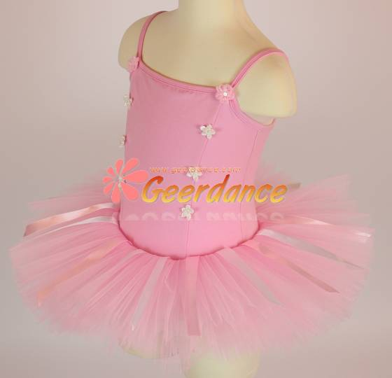 Ribbons overlayered tutu, dance dress girl, girls ballet dress, kids ballet tutu 30C0011