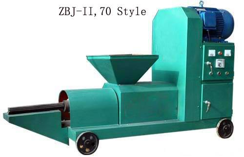 Rice Straw Briquette Press Machine making briquette by screw extruding