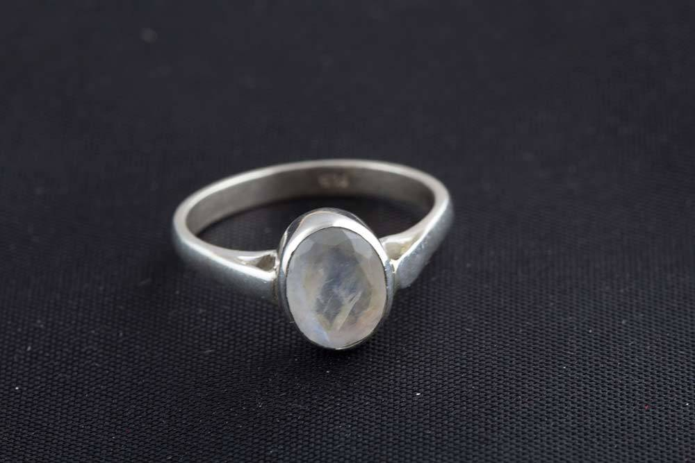 92.5 sterling silver Rainbow Moonstone Ring