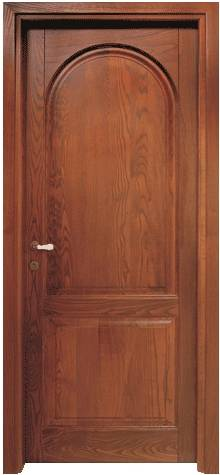Wooden Door with Round Design